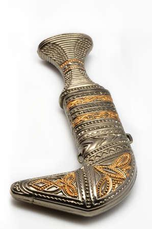 sheath: knife in a sheath on a white background