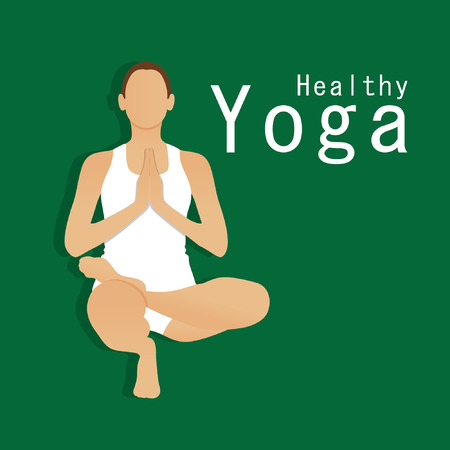 mendie: vector illustration of meditating and doing yoga poses