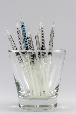 hypodermic: hypodermic syringe Stock Photo