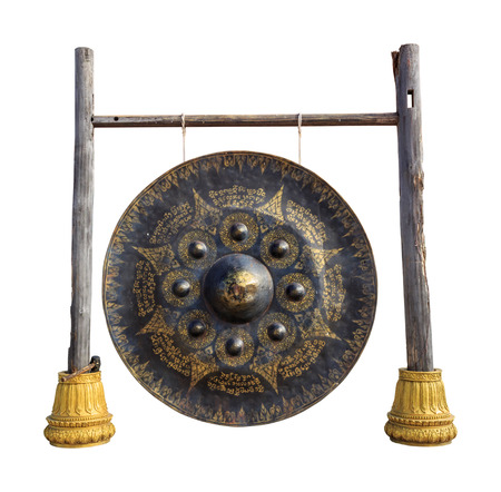 gong: gong isolated on white background with clippingpath