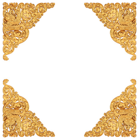 Traditional Thai art decoration isolated on white background