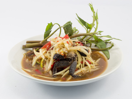 green papaya salad: green papaya salad thai food