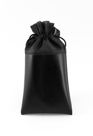 murk: Black bag isolated on white background Stock Photo