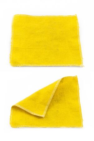 velours: Lens Cleaning Cloth isolated on white background Stock Photo