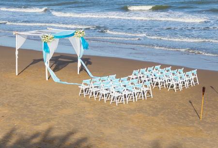 venue: wedding ceremony on the beach Stock Photo