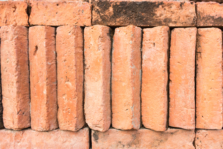red clay: Red clay bricks Stock Photo