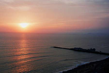 colorful and beautiful sundown