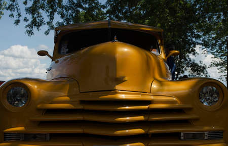 old truck: yellow old truck 1