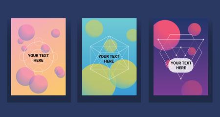 液色は、セットをカバーしています。未来的なデザインのポスターです。  イラスト・ベクター素材