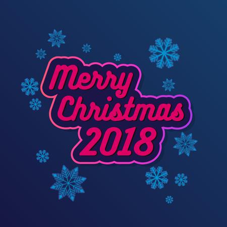 Vector Merry Christmas Greeting Card