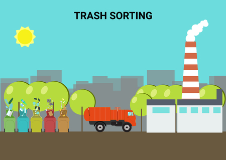 Concept of sorting of waste and waste processing