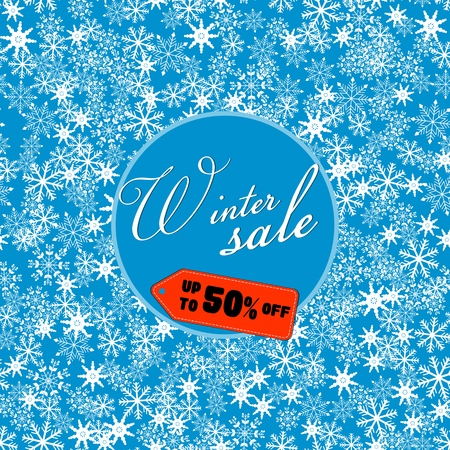 winter sale banner, vector illustration EPS10