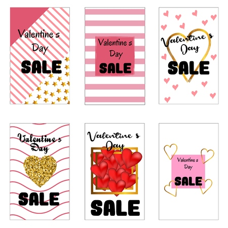 Collection sale flyer templates with lettering.. Typography poster, card, invitation, label, banner design set. Vector illustration EPS10