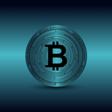 Background with bitcoin Иллюстрация