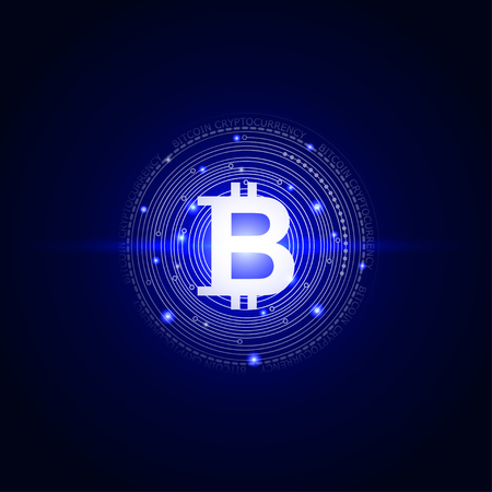 bitcoins digital currency technology style background