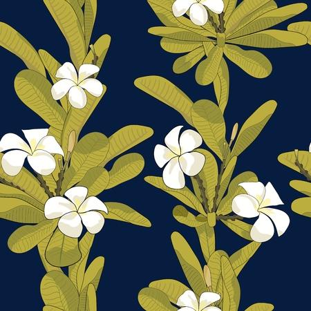 Floral tropical pattern Иллюстрация