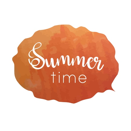 Hand drawn typography lettering phrase Summer time.