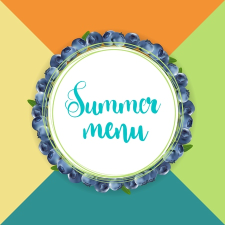 summer menu design Illustration