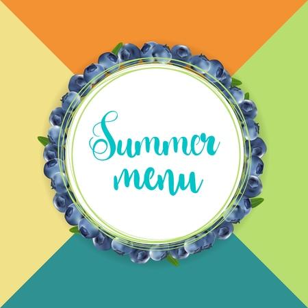 summer menu design Illustration