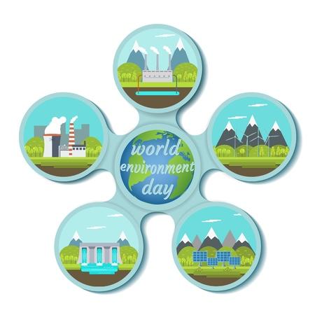 World environment day. Eco energy concept
