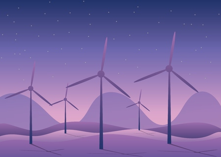 wind power against the background of nature