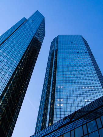 Business buildings in Frankfurt, Germany photo