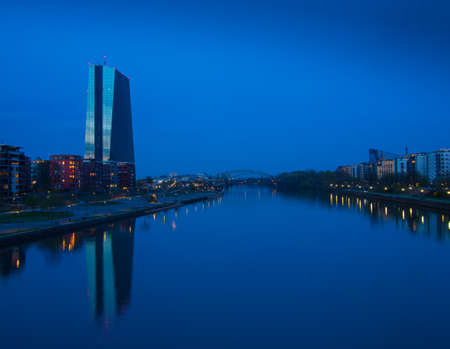 ecb: The new bulding of the European Central Bank Headquarters, ECB, EZB,  in Frankfurt, Germany