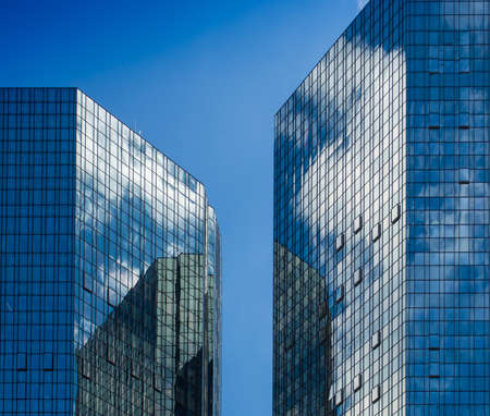 Facades of office buildings in Frankfurt, Germany photo