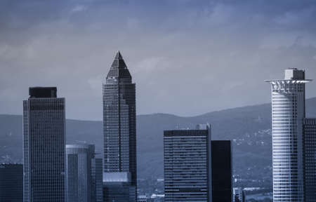 trade fair: Office buildings with Trade Fair Tower, Messeturm, in Frankfurt, Germany
