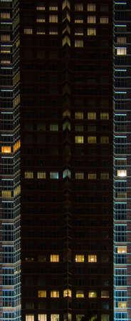 trade fair: Facade of the Trade Fair Tower, Messeturm, in Frankfurt, Germany, by night
