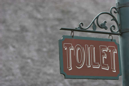 privy: Toilet sign with space to add on Stock Photo