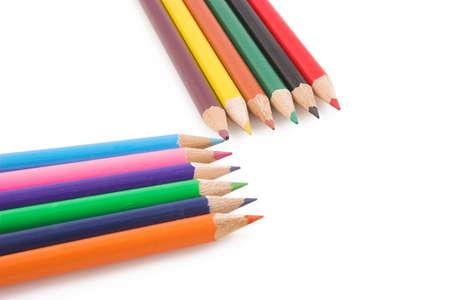 Color pencils in a row photo