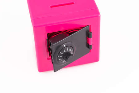 Money safely stored in a pink safe Stock Photo - 753499