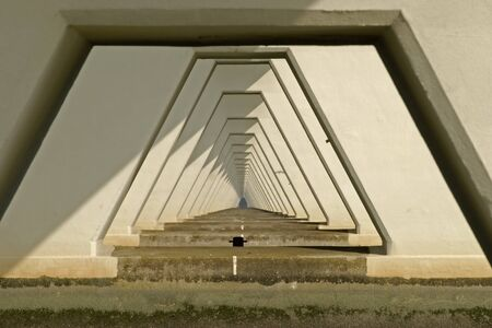 The Zeelandbrug in the Province of Zeeland, the Netherlands picture taking under the bridge photo