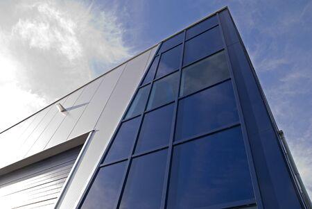 Modern glass architechtectural design commercial building photo