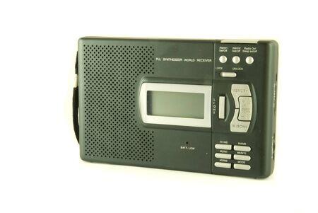 analogue: Black radio isolated on a white background