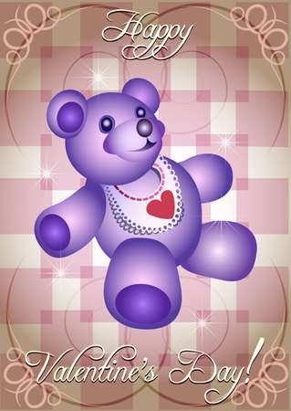 valentine s day teddy bear: Valentine Illustration