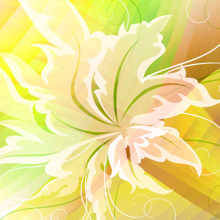 Abstract summer background drawn in bright colours with using floral pattern Illustration