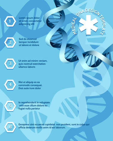Medical molecular diagnosis or dna research design template.