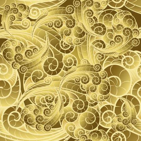 wall paper: Vintage gold swirl seamless wall paper pattern.