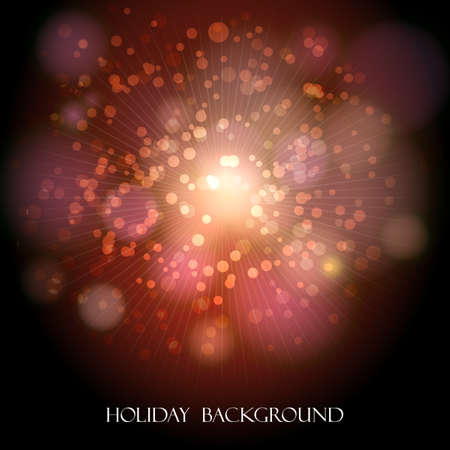 Abstract colorful holiday background with festive bubbles.