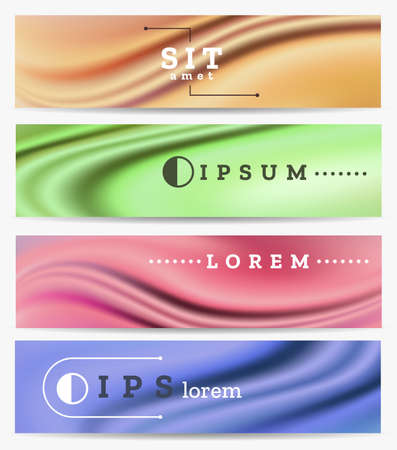 Abstract scientific banner set. Industrial  and technology concept cover vector design. Illustration