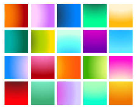 Set of Vivid Paterns.  Twenty backgrounds for your design. Vector illustration.