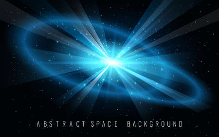 Space background with galaxy and Blast of Supernova. Vector illustration.