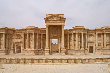 renovated: Beautiful renovated theatre in Palmyra ancient city in Syria