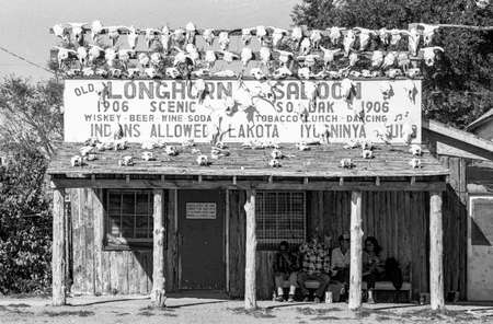 Old Longhorn Saloon in Scenic, South Dacota / USA Standard-Bild