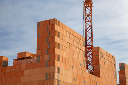Construction sites in a new development area in Germany Standard-Bild
