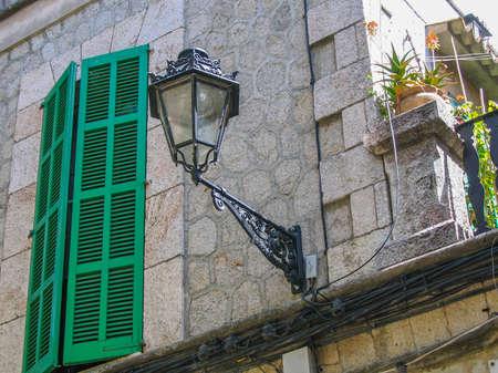 Valldemossa detail, old street lamp