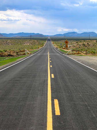 Extraterrestrial Highway, Nevada State Route 375 스톡 콘텐츠