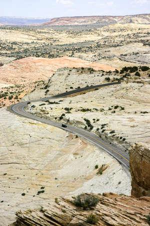 Winding Highway through Utah Countryside Stockfoto